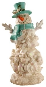 "National Tree Company National Tree 11"" Polyresin Snowman with Blue Scarf & Hat"