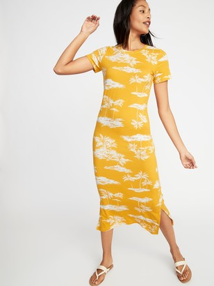 Old Navy Fitted Jersey Midi Tee Dress for Women