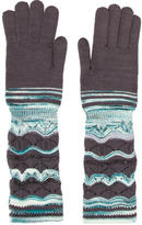 Missoni Metallic Open Knit Gloves