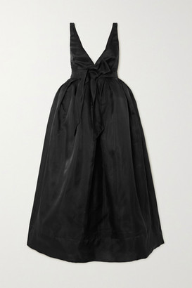 Brock Collection Bow-detailed Silk-organza Midi Dress - Black