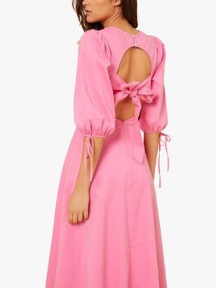 Little Mistress by Vogue Williams Puff Sleeve Midi Dress