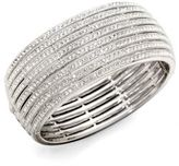 Adriana Orsini Eight-Row Crystal Encrusted Bangle Bracelet