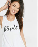 Express one eleven semi-sheer bride muscle tank