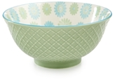 "Certified International Chelsea Collection Embossed Green/Multi Floral 6.25"" Bowl"