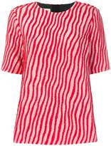Marni wave striped blouse