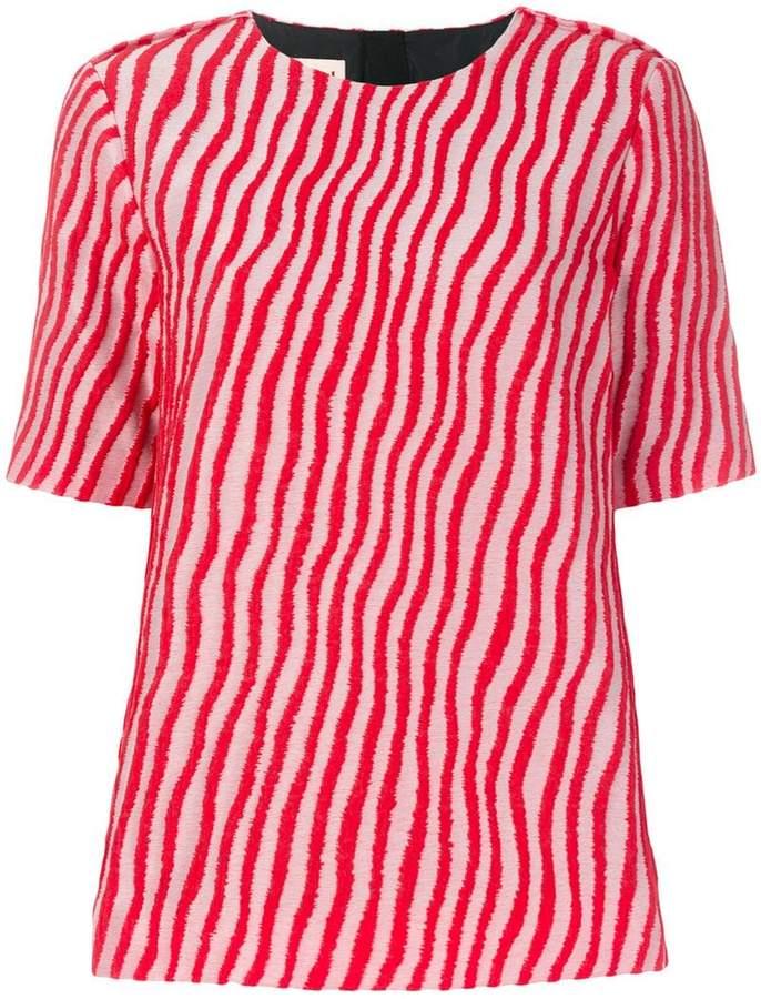 Marni wave striped blouse