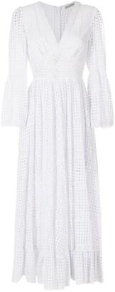 Martha Medeiros Cotton Empire-Line Evening Dress