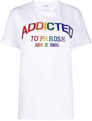 P.A.R.O.S.H. crew neck crystal-embellished T-shirt