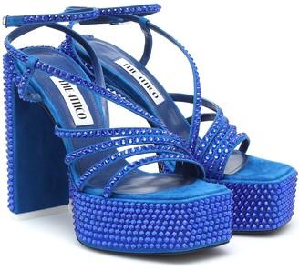 ATTICO Venice suede platform sandals