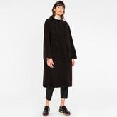 Paul Smith Women's Black Shearling-Sheepskin Long Coat