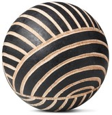 Threshold Carved Wood Ball - Small