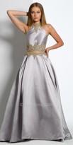 Camille La Vie Mikado Mock Two Piece Evening Dress