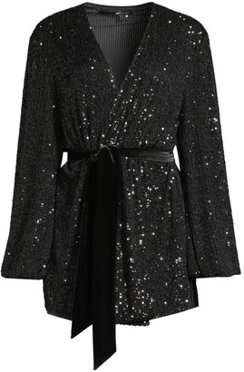 Jay Godfrey Polly Sequin Wrap Dress
