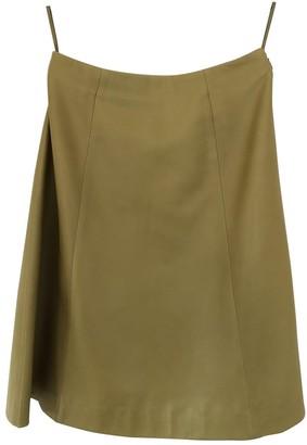 Prada Green Leather Skirt for Women