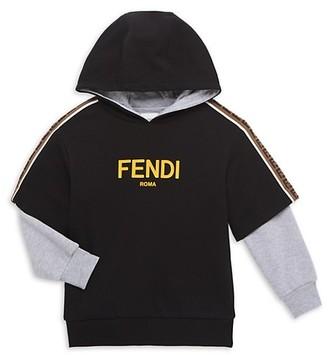 Fendi Little Boy's & Boy's Faux 2-in-1 Hooded Sweatshirt