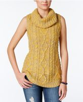 Freshman Juniors' Sleeveless Cowl-Neck Tunic Sweater