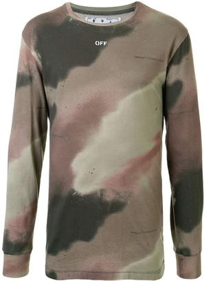 Off-White camouflage-print long-sleeved T-shirt