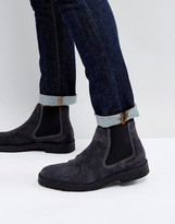 Ps By Paul Smith Dart Desert Boot In Blue