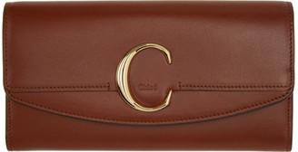 Chloé Brown C Long Wallet