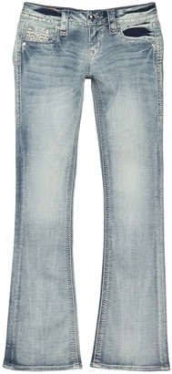 Rock Revival Rhinestone Embellished Fade Bootcut Jeans