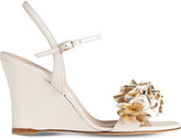 LK Bennett Catherine leather wedge sandals