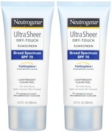 Neutrogena Ultra Sheer Broad Spectrum Sunscreen SPF 70 - 3 oz - 2 pk