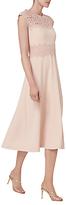 LK Bennett L.K.Bennett Selene Lace Crepe Dress, Pale Pink