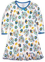 Sara's Prints Girls' Hanukkah Print Nightgown - Sizes 2-7