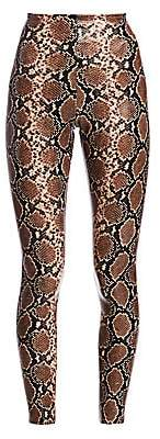 Commando Women's Snakeskin-Print Faux Leather Leggings