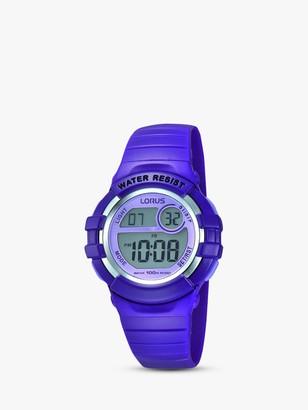 Lorus Children's Digital PU Rubber Strap Watch