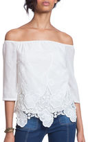 Plenty by Tracy Reese Off-The-Shoulder Lace Top