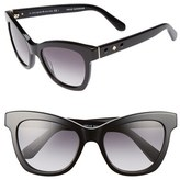 Kate Spade Women's 'Krissy' 52Mm Cat Eye Sunglasses - Black