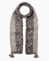 Charming charlie Leopard Confetti Scarf