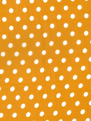 Oddies Textiles Polka Dot Print Fabric, Orange