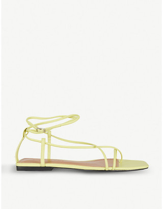 Who What Wear Zander strappy faux-leather sandals