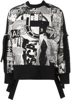 Kokon To Zai 'Newspaper Print Bondage' sweatshirt