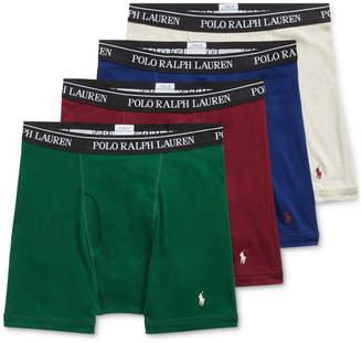 Polo Ralph Lauren Men 3 +1 Bonus Pk. Cotton Boxer Briefs