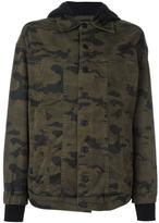 Hudson camouflage print hooded jacket