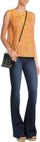 Diane von Furstenberg Leather Soiree Large Flap Shoulder Bag