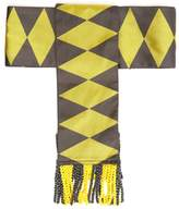 Etro Fringed geometric-jacquard silk belt