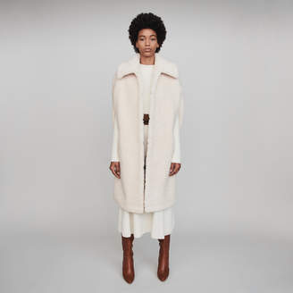 Maje Faux fur cape coat