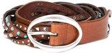 Orciani braided studded belt - women - Leather/Brass - 90