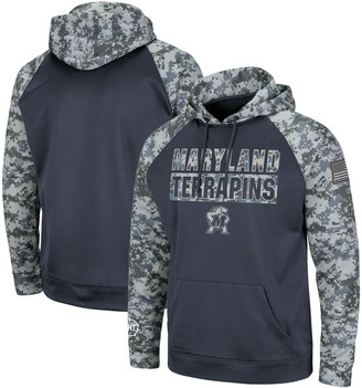 Colosseum Youth Charcoal Maryland Terrapins OHT Military Appreciation Digi Camo Raglan Pullover Hoodie