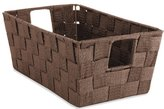 Whitmor Woven Strap Small Shelf Storage Tote, Espresso
