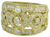 Judith Ripka 18K Yellow Gold Pave Diamond Ring Size 6