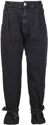 FEDERICA TOSI Dark Grey Cotton Jeans