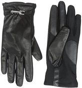 Isotoner Women's Stretch Leather smarTouch Gloves with Belt