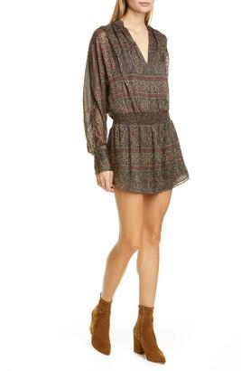 Frame Paisley Silk Blend Party Dress