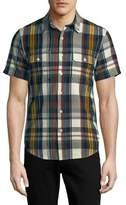Lucky Brand Checkered Cotton Button-Down Shirt