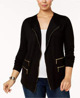 INC International Concepts Plus Size Zipper Cardigan, Created for Macy's